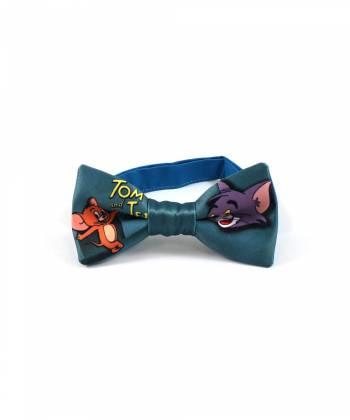 Детский галстук-бабочка цвета морской волны с рисунком Том и Джерри/Tom and Jerry YAKUT