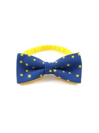 Галстук-бабочка синего цвета с рисунком Звезды