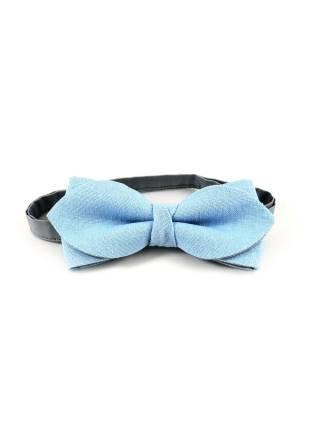 Галстук-бабочка светло-голубой цвет однотонный из льна