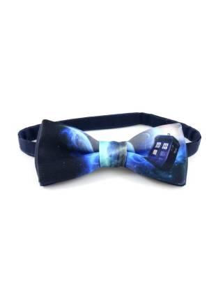 Галстук-бабочка с Тардисом / TARDIS из атласа